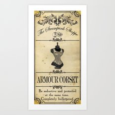 Steampunk Apothecary Shoppe - Corset Art Print