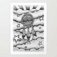 dream catcher Art Prints featuring Dream catcher by DeMoose_Art