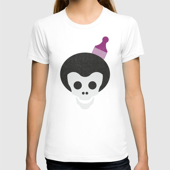 Skull with Afro. T-shirt