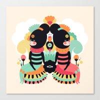 Maoshi & Jun Canvas Print