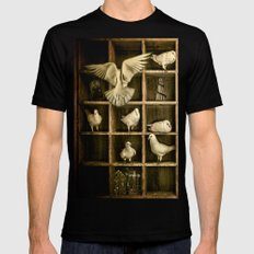 Pigeon Holed Mens Fitted Tee Black SMALL