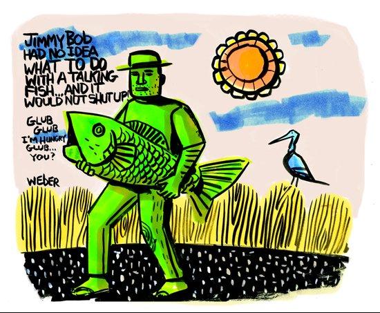 Jimmy Bob's Fishing Adventure Canvas Print