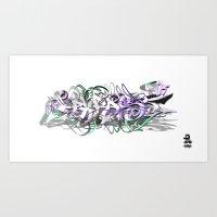 3D GRAFFITI - PHRASE Art Print