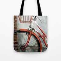 Red Bicycle Tote Bag