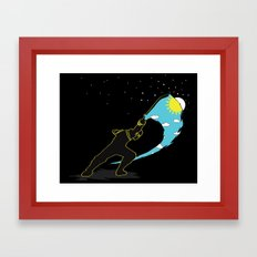 Ninja Slice Framed Art Print
