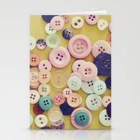 Vintage Buttons  Stationery Cards