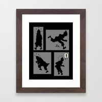 Tintin, Silhouetted Framed Art Print