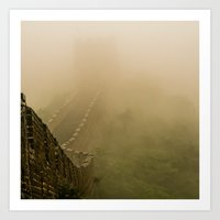 The Enshrouded Guard Tower Art Print