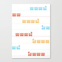 The Essential Patterns of Childhood - Train Canvas Print