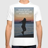 Don't Regret Mens Fitted Tee White SMALL