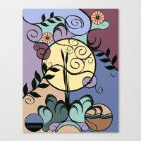 Garden Under June Moon Canvas Print