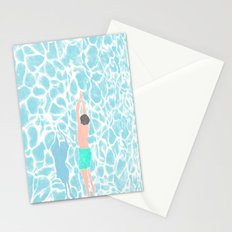 SWIMMING ALONE Stationery Cards
