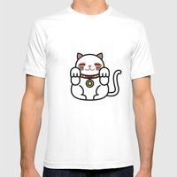 Cats. Mens Fitted Tee White SMALL