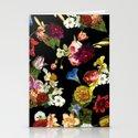 Flowery (black version) Stationery Cards