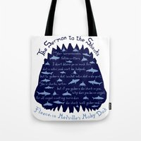 The Sermon to the Sharks Tote Bag