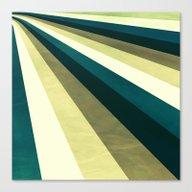 Green Ombre Stripes Canvas Print