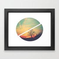 Colored Sky Framed Art Print