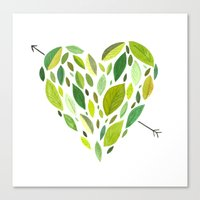 Hearts and Arrows Canvas Print