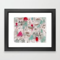 Red and Brown Framed Art Print