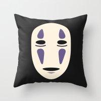 No-Face (Spirited Away) Throw Pillow