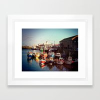Boats resting in the Harbour Framed Art Print