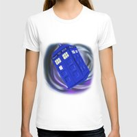 In The Vortex Womens Fitted Tee White SMALL
