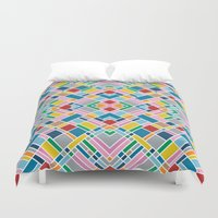 Map Outline 45 Repeat Duvet Cover