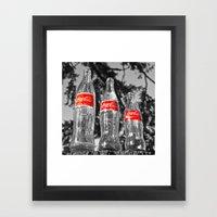 Classic Soda Bottles Framed Art Print
