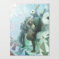 The Rabbits Are Here Canvas Print