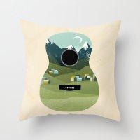 Rocky Mountain High - Guitar Throw Pillow
