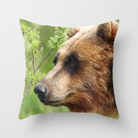 Smokey Sniffing the Breeze Throw Pillow