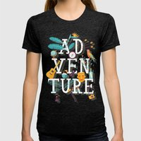 Adventure  Womens Fitted Tee Tri-Black SMALL