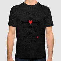 Love Is Always The Answe… Mens Fitted Tee Tri-Black SMALL