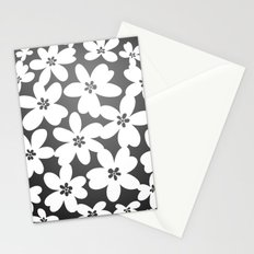 Grey Floral Stationery Cards