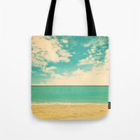 Retro Beach Tote Bag