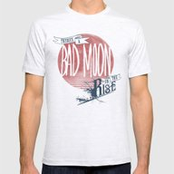 Bad Moon Rising - Supern… Mens Fitted Tee Ash Grey SMALL