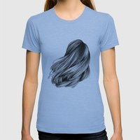 hair Womens Fitted Tee Athletic Blue SMALL
