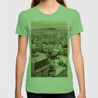 Rooftops of Paris 3 Womens Fitted Tee Grass SMALL