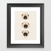 No Evil Pug  Framed Art Print