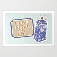 Think Inside The Box Art Print