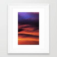 Sunset in the Maldives Framed Art Print