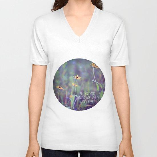 All Good Things (Daisy) V-neck T-shirt