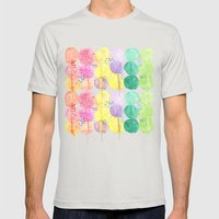Drippy Blobs Mens Fitted Tee Silver SMALL