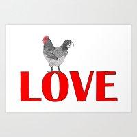 Chicken Love Art Print
