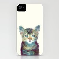 iPhone 4s & iPhone 4 Cases featuring Cat // Aware by Amy Hamilton