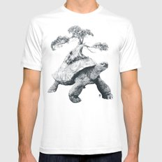 Tortoise Tree - Growth Mens Fitted Tee White SMALL