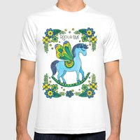 Rock-A-Bye (Blue) Mens Fitted Tee White SMALL