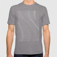 Minimal Curves II Mens Fitted Tee Tri-Grey SMALL