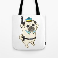 Animal Police - Pug Tote Bag
