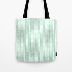 Herringbone Mint Tote Bag